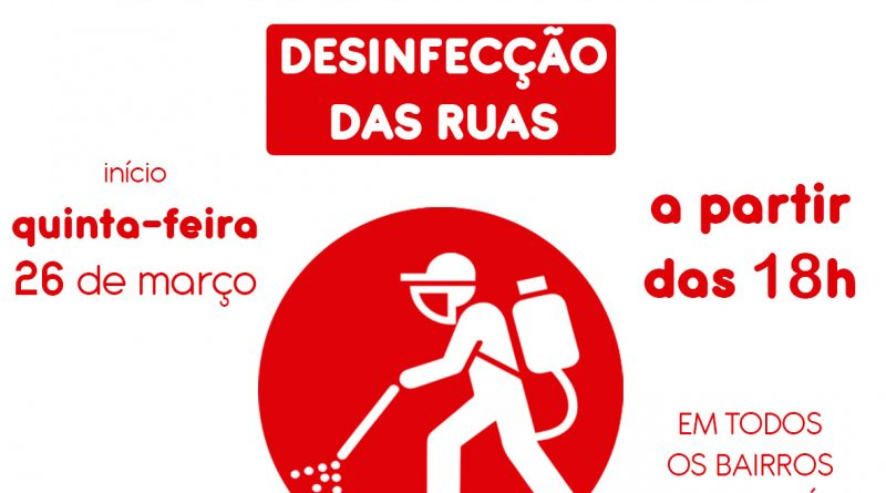 Prefeitura de Aguaí realizará desinfecção por toda a cidade