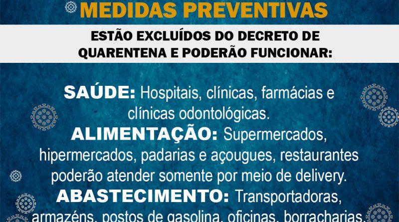 Atenção – Medidas Preventivas