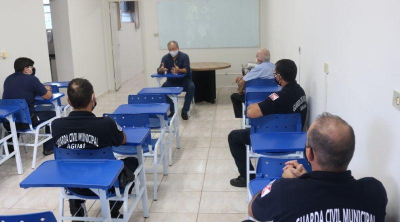 Guarda Civil Municipal de Aguaí recebe visita da Diretoria de Segurança de Mococa
